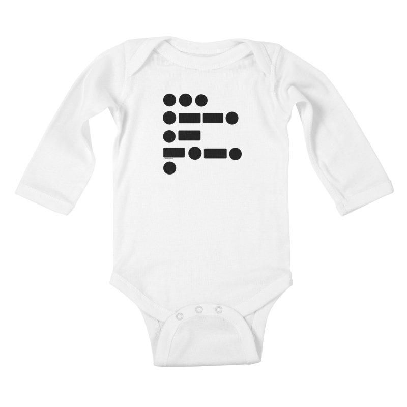 S P A C E Morse Code Kids Baby Longsleeve Bodysuit by Juleah Kaliski Designs