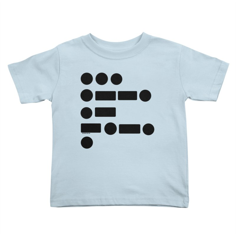 S P A C E Morse Code Kids Toddler T-Shirt by Juleah Kaliski Designs