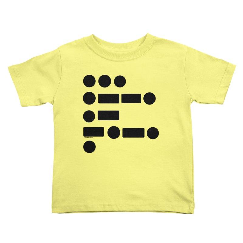S P A C E Morse Code Kids Toddler T-Shirt by Juleah Kaliski Designs