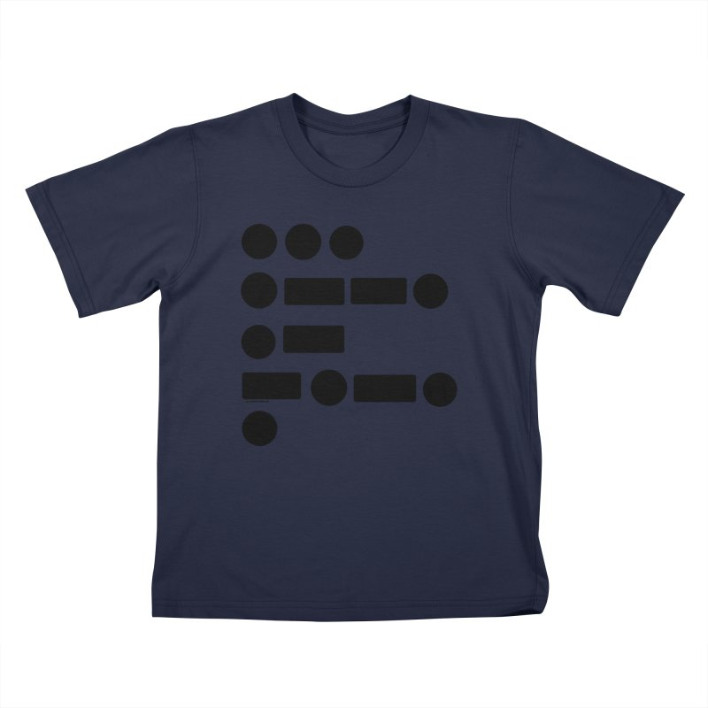 S P A C E Morse Code Kids T-Shirt by Juleah Kaliski Designs