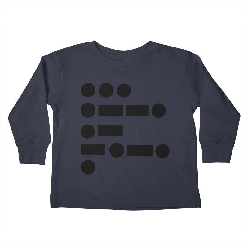 S P A C E Morse Code Kids Toddler Longsleeve T-Shirt by Juleah Kaliski Designs