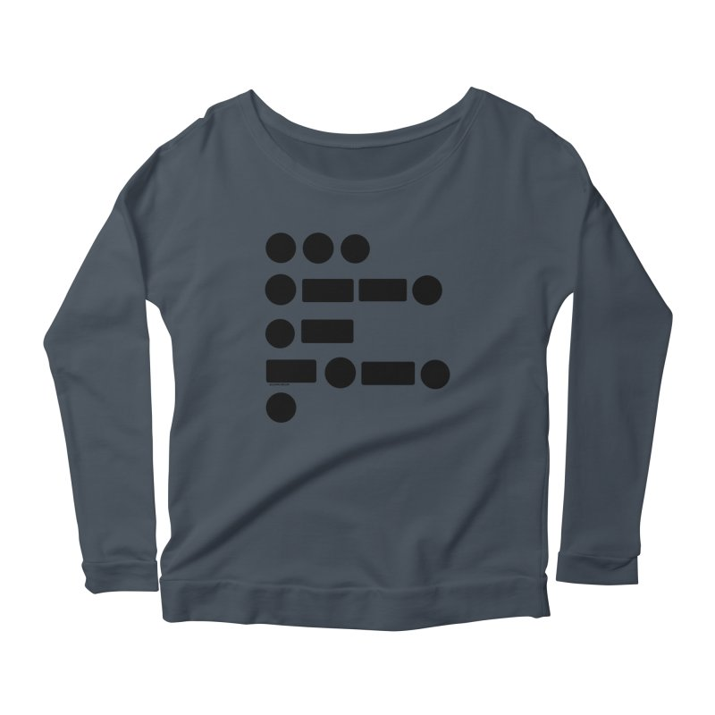 S P A C E Morse Code Women's Scoop Neck Longsleeve T-Shirt by Juleah Kaliski Designs