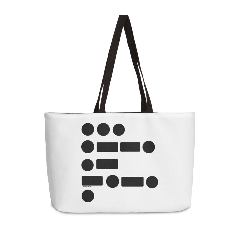 S P A C E Morse Code Accessories Weekender Bag Bag by Juleah Kaliski Designs