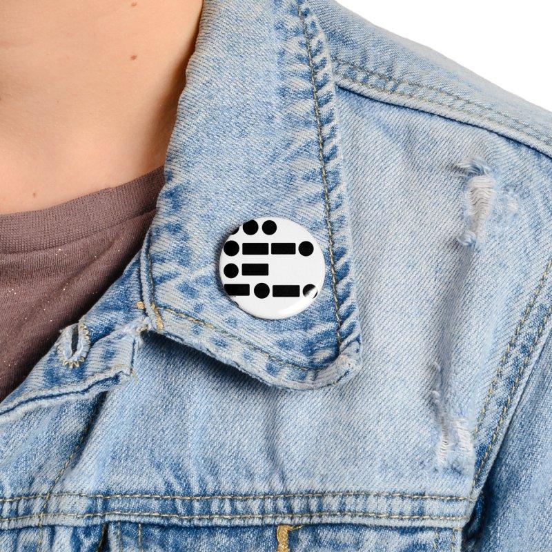 S P A C E Morse Code Accessories Button by Juleah Kaliski Designs