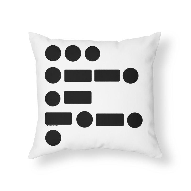 S P A C E Morse Code Home Throw Pillow by Juleah Kaliski Designs