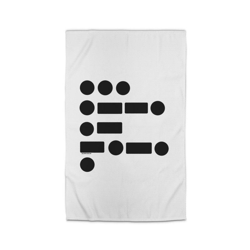 S P A C E Morse Code Home Rug by Juleah Kaliski Designs