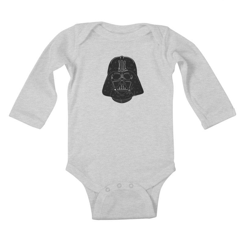 Cosmic Vader Kids Baby Longsleeve Bodysuit by Juleah Kaliski Designs