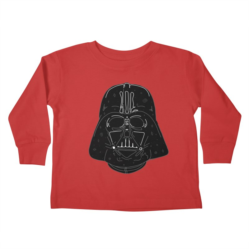 Cosmic Vader Kids Toddler Longsleeve T-Shirt by Juleah Kaliski Designs