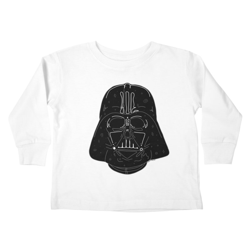 Cosmic Vader Kids Toddler Longsleeve T-Shirt by Juleah Kaliski Designs
