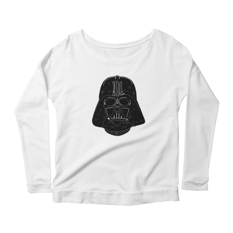 Cosmic Vader Women's Scoop Neck Longsleeve T-Shirt by Juleah Kaliski Designs