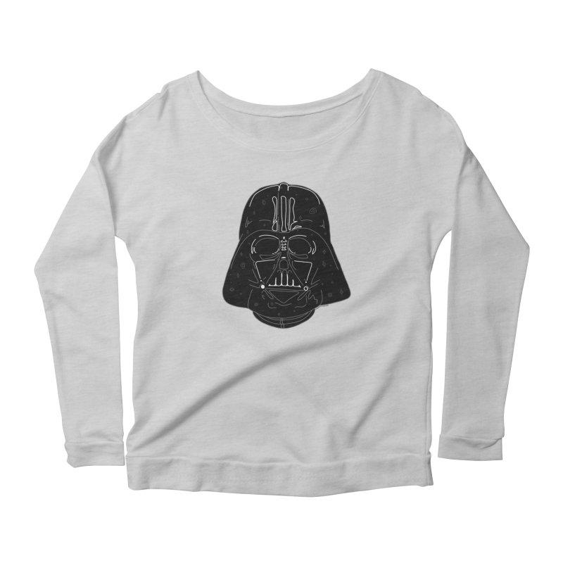 Cosmic Vader Women's Scoop Neck Longsleeve T-Shirt by Juleah Kaliski Designs