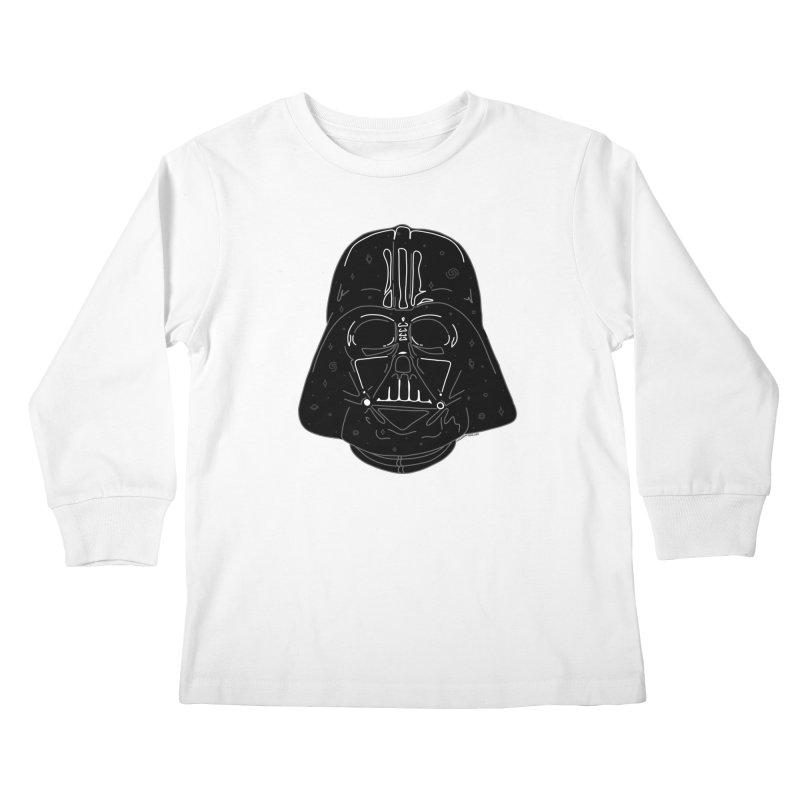 Cosmic Vader Kids Longsleeve T-Shirt by Juleah Kaliski Designs