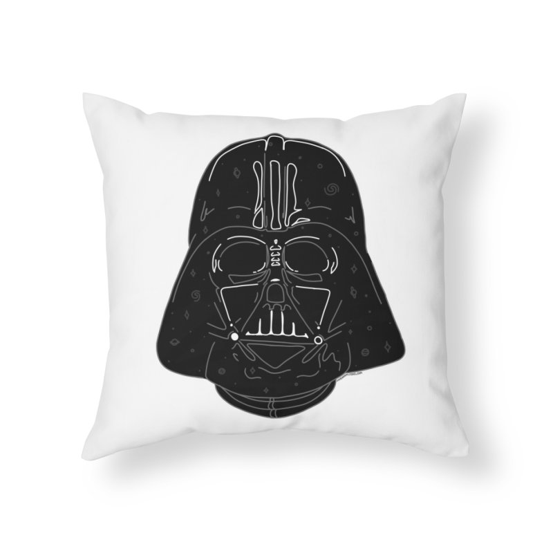 Cosmic Vader Home Throw Pillow by Juleah Kaliski Designs