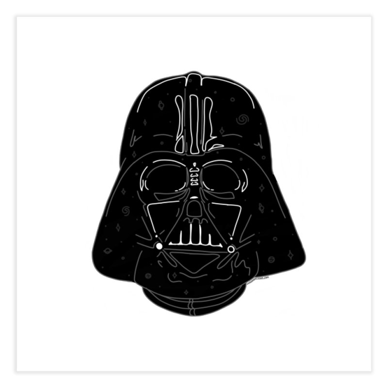 Cosmic Vader Home Fine Art Print by Juleah Kaliski Designs