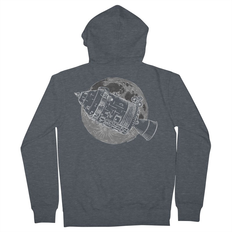 Command and Service Module Women's French Terry Zip-Up Hoody by Juleah Kaliski Designs