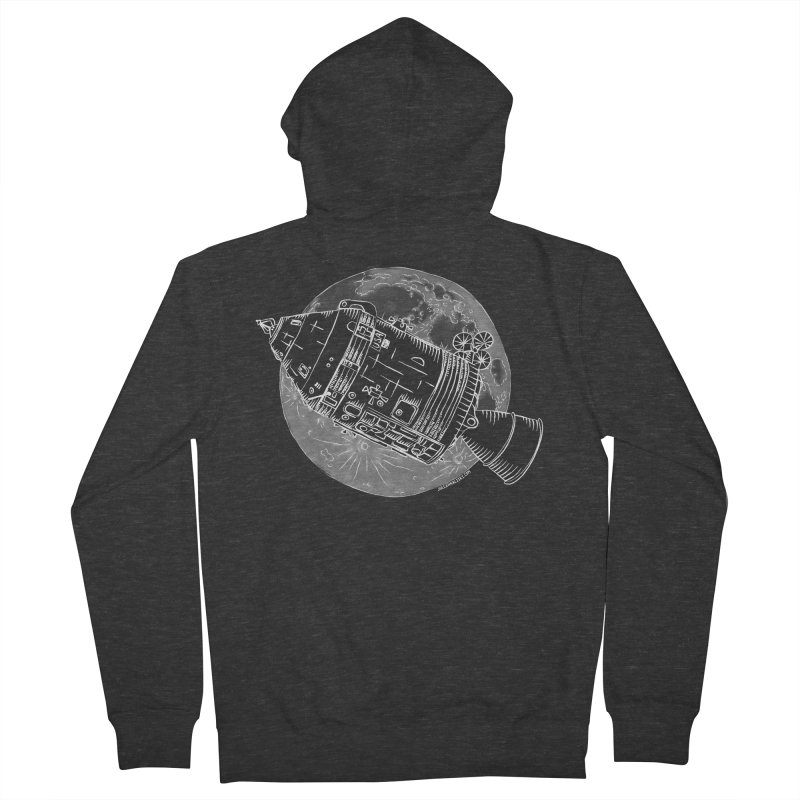 Command and Service Module Men's French Terry Zip-Up Hoody by Juleah Kaliski Designs