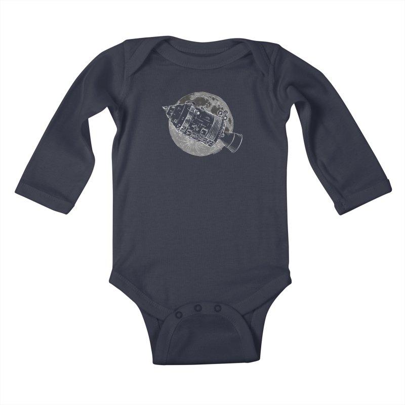 Command and Service Module Kids Baby Longsleeve Bodysuit by Juleah Kaliski Designs