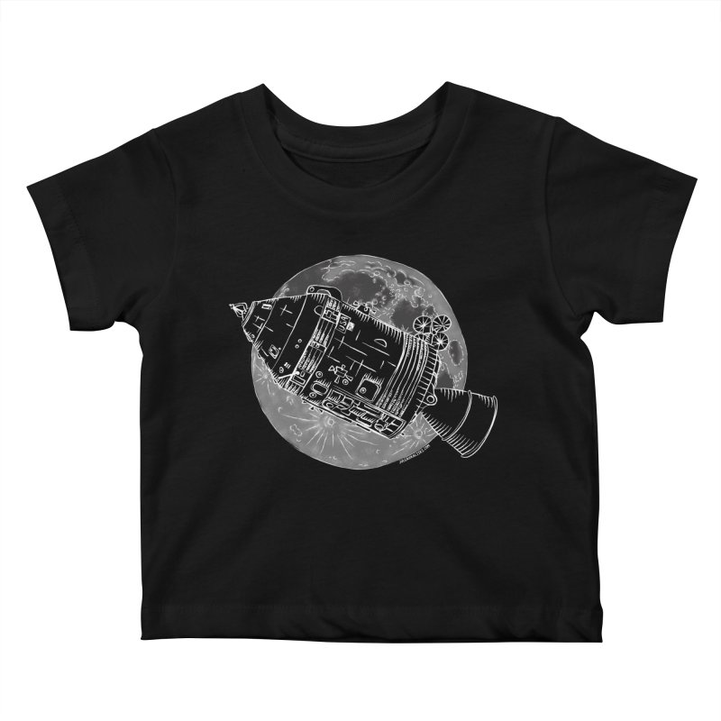 Command and Service Module Kids Baby T-Shirt by Juleah Kaliski Designs