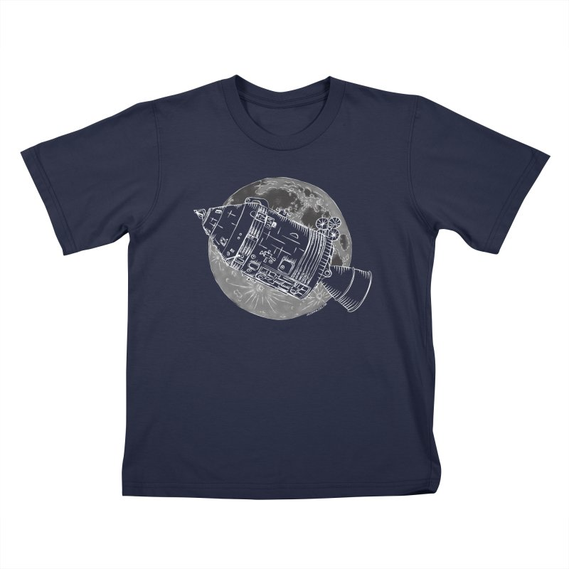 Command and Service Module Kids T-Shirt by Juleah Kaliski Designs