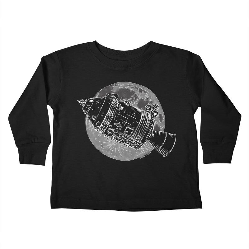 Command and Service Module Kids Toddler Longsleeve T-Shirt by Juleah Kaliski Designs