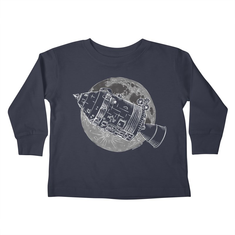 Command and Service Module Kids Toddler Longsleeve T-Shirt by Juleah Kaliski Designs