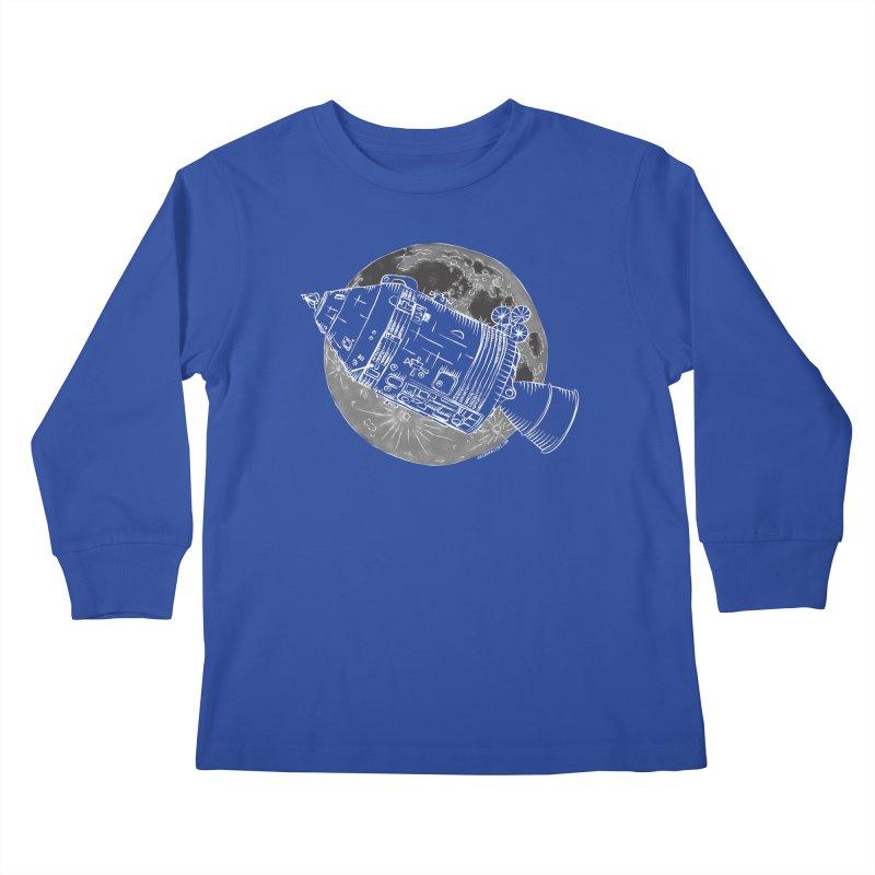 Command and Service Module Kids Longsleeve T-Shirt by Juleah Kaliski Designs