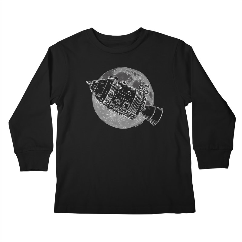 Command and Service Module Kids Longsleeve T-Shirt by Juleah Kaliski Designs