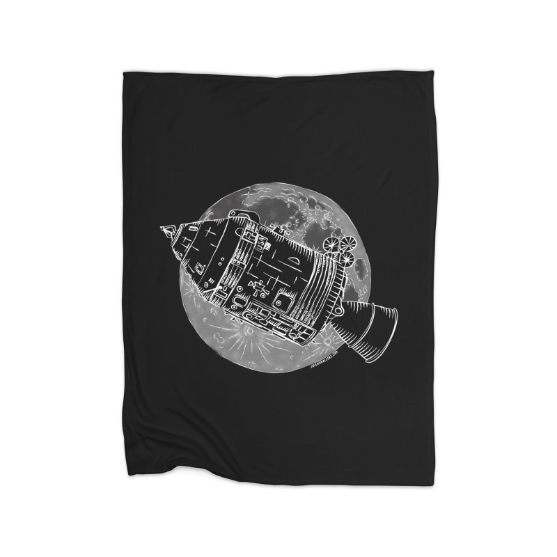 Command and Service Module Home Fleece Blanket Blanket by Juleah Kaliski Designs