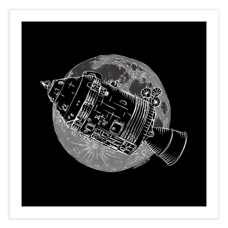 Command and Service Module Home Fine Art Print by Juleah Kaliski Designs