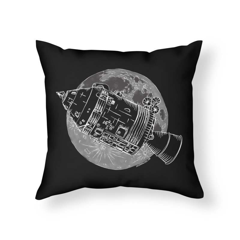 Command and Service Module Home Throw Pillow by Juleah Kaliski Designs