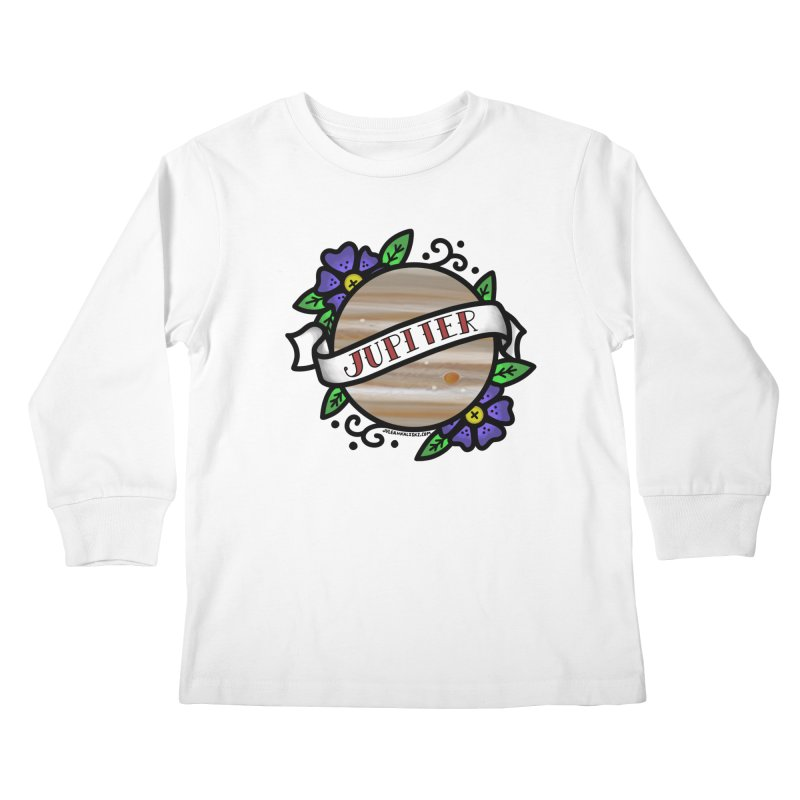 Jupiter, I shall always love you Kids Longsleeve T-Shirt by Juleah Kaliski Designs