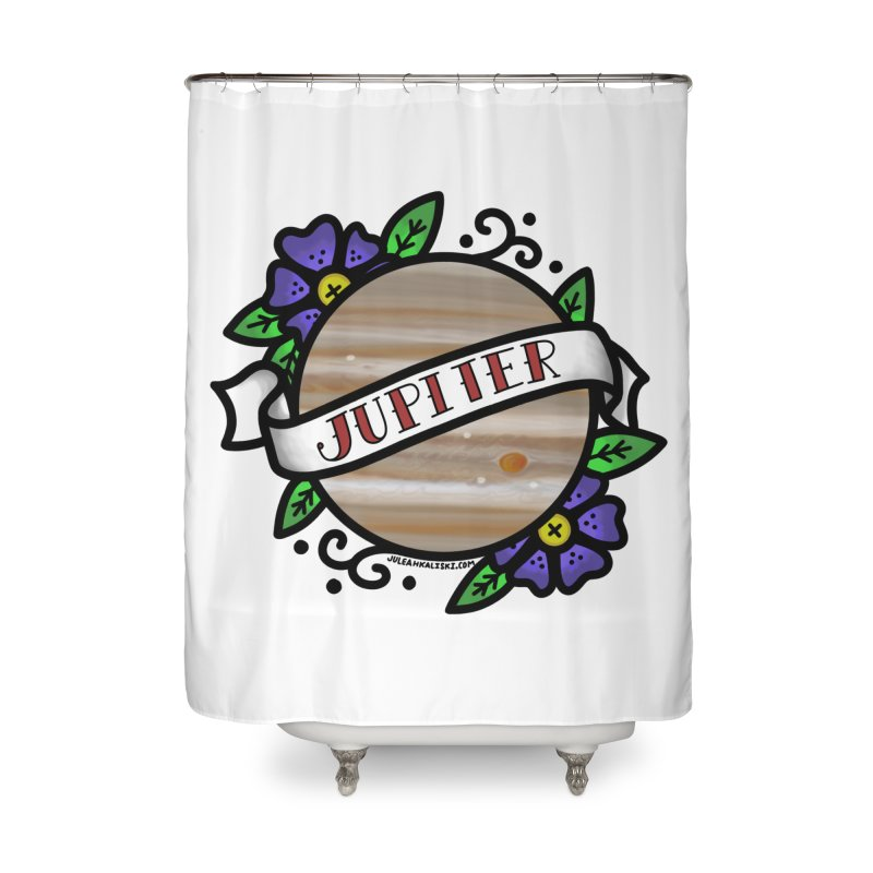 Jupiter, I shall always love you Home Shower Curtain by Juleah Kaliski Designs