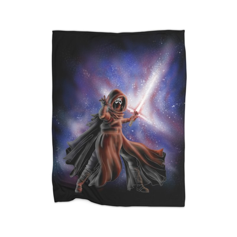 Galactic Lightsaber Home Fleece Blanket Blanket by Juleah Kaliski Designs