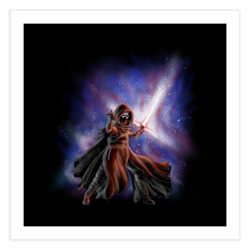 Galactic Lightsaber Home Fine Art Print by Juleah Kaliski Designs