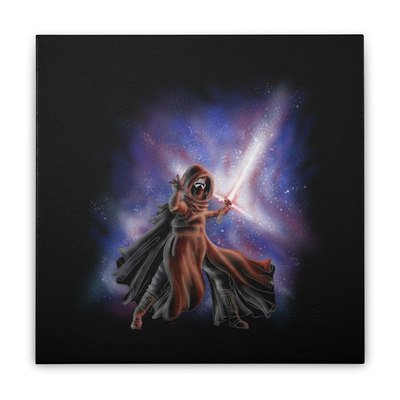 Galactic Lightsaber Home Stretched Canvas by Juleah Kaliski Designs