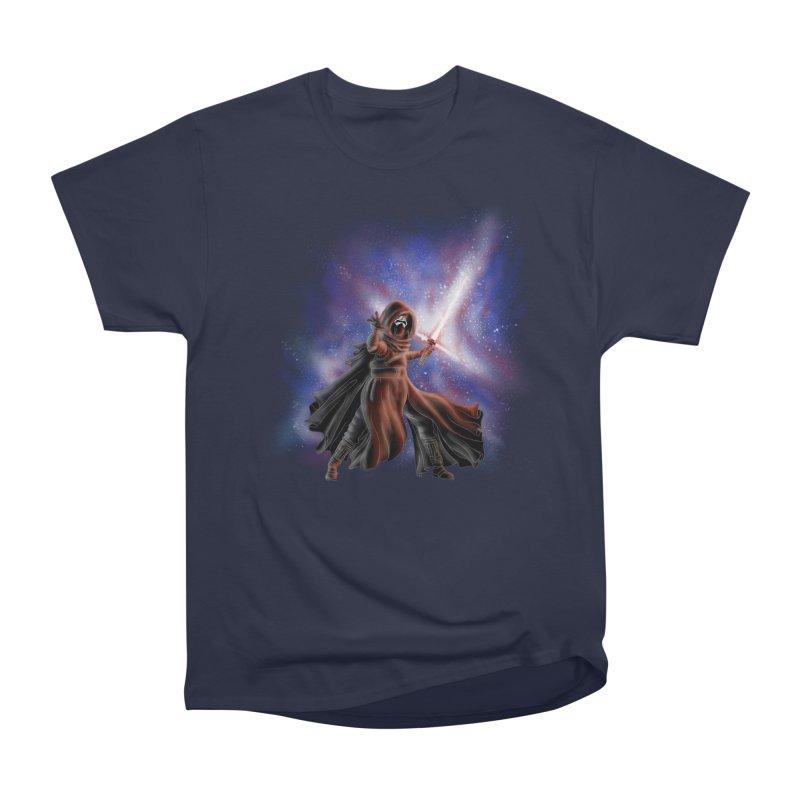 Galactic Lightsaber Women's Heavyweight Unisex T-Shirt by Juleah Kaliski Designs