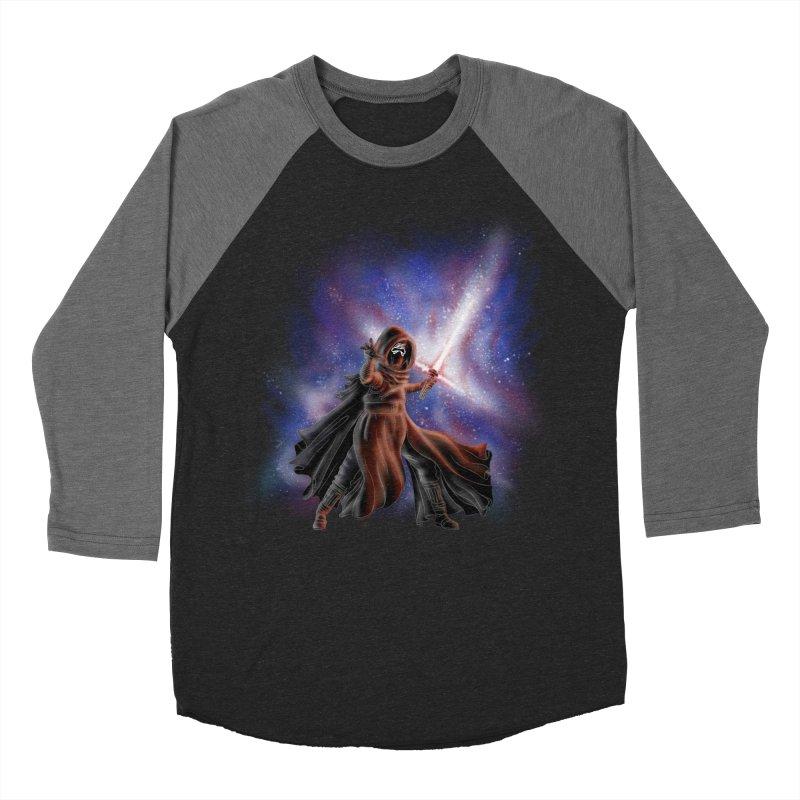 Galactic Lightsaber Men's Baseball Triblend T-Shirt by Juleah Kaliski Designs
