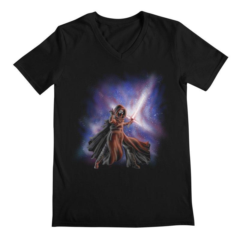 Galactic Lightsaber Men's V-Neck by Juleah Kaliski Designs