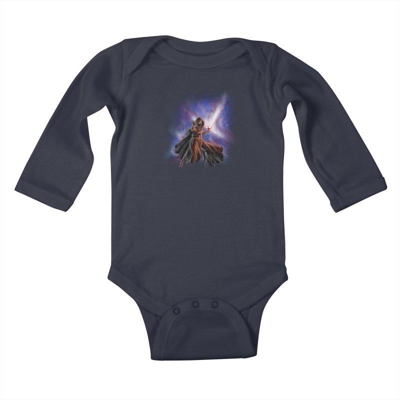 Galactic Lightsaber Kids Baby Longsleeve Bodysuit by Juleah Kaliski Designs