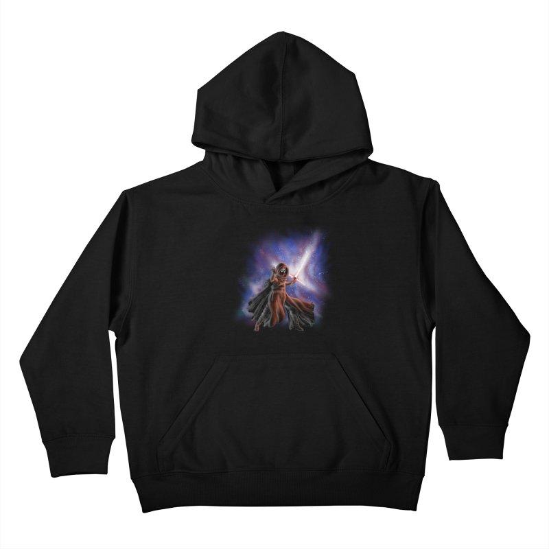 Galactic Lightsaber Kids Pullover Hoody by Juleah Kaliski Designs