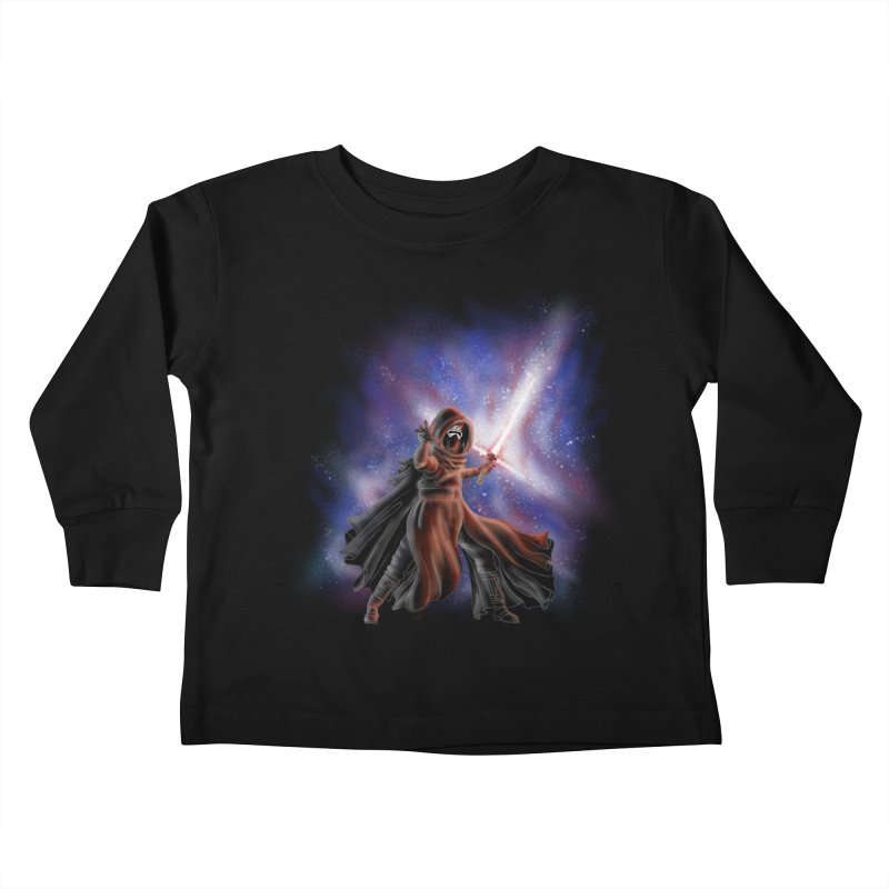 Galactic Lightsaber Kids Toddler Longsleeve T-Shirt by Juleah Kaliski Designs