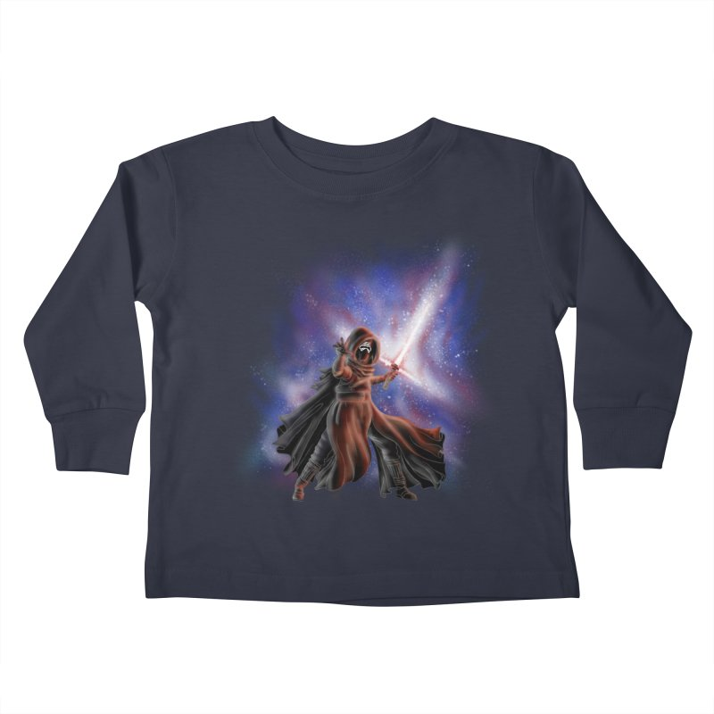 Galactic Lightsaber Kids Toddler Longsleeve T-Shirt by Juleah Kaliski Designs