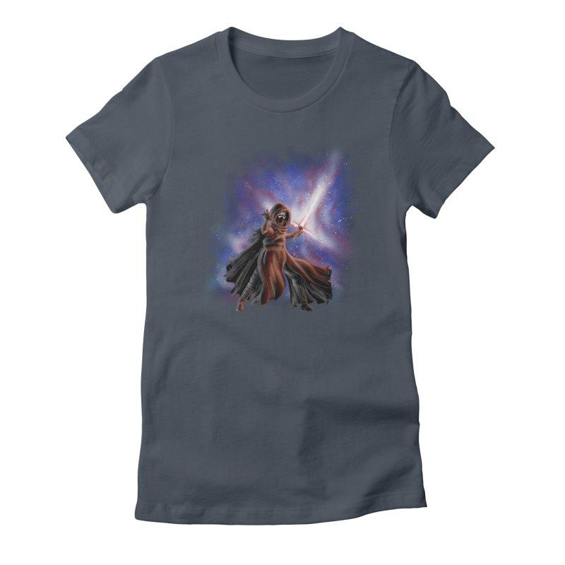 Galactic Lightsaber Women's Fitted T-Shirt by Juleah Kaliski Designs