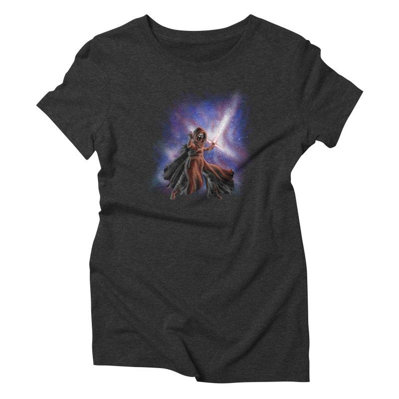 Galactic Lightsaber Women's Triblend T-Shirt by Juleah Kaliski Designs