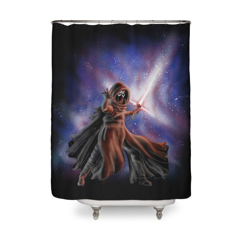 Galactic Lightsaber Home Shower Curtain by Juleah Kaliski Designs
