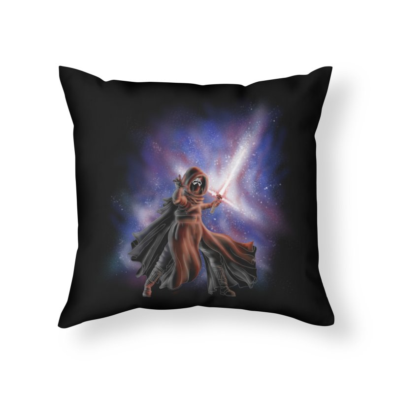 Galactic Lightsaber Home Throw Pillow by Juleah Kaliski Designs