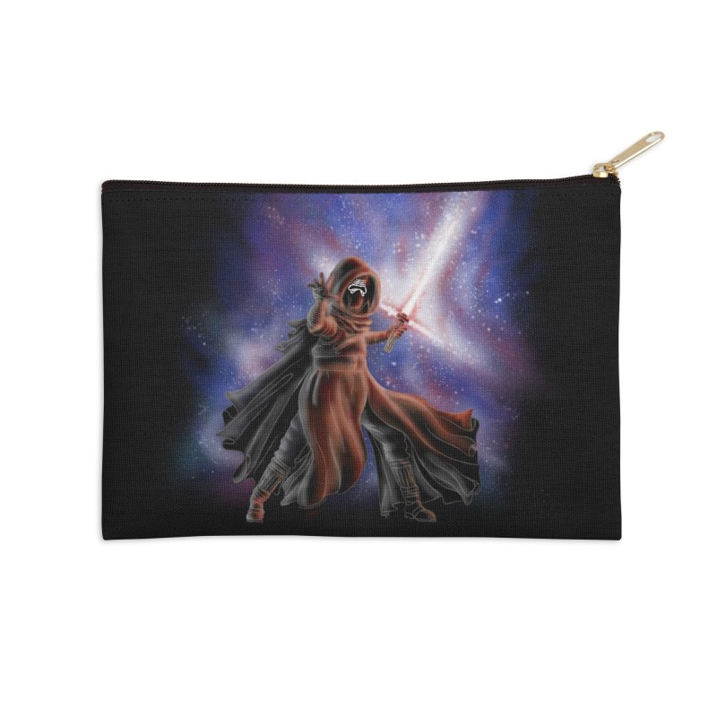 Galactic Lightsaber Accessories Zip Pouch by Juleah Kaliski Designs