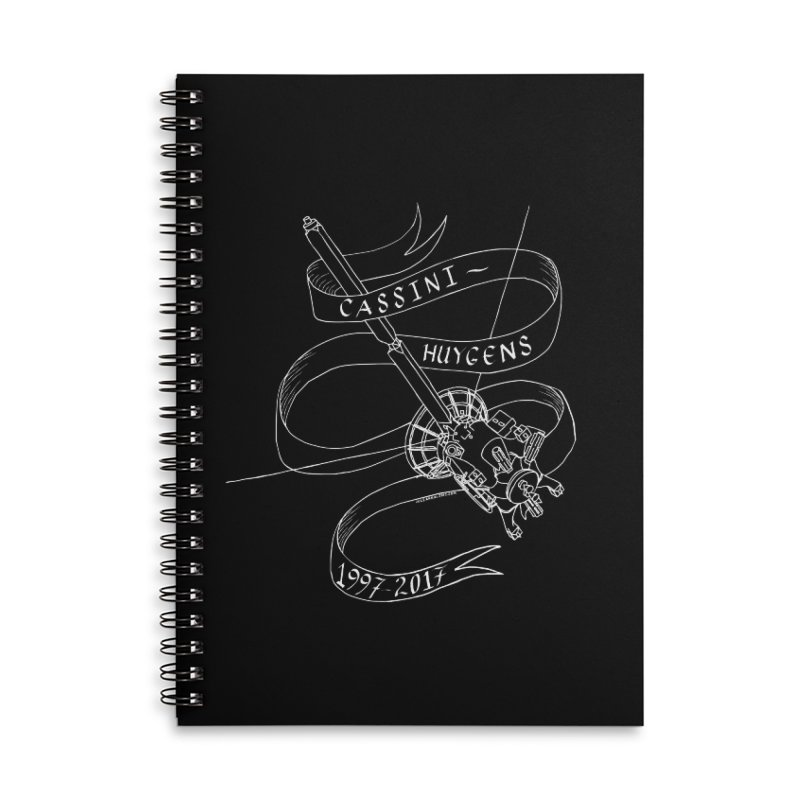 Cassini-Huygens Accessories Notebook by Juleah Kaliski Designs
