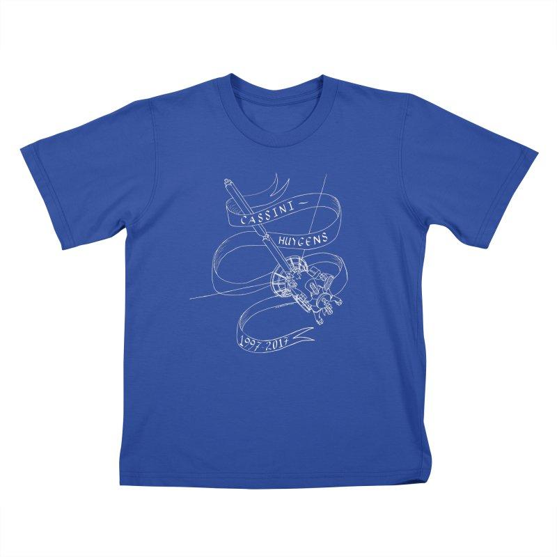 Cassini-Huygens Kids T-Shirt by Juleah Kaliski Designs