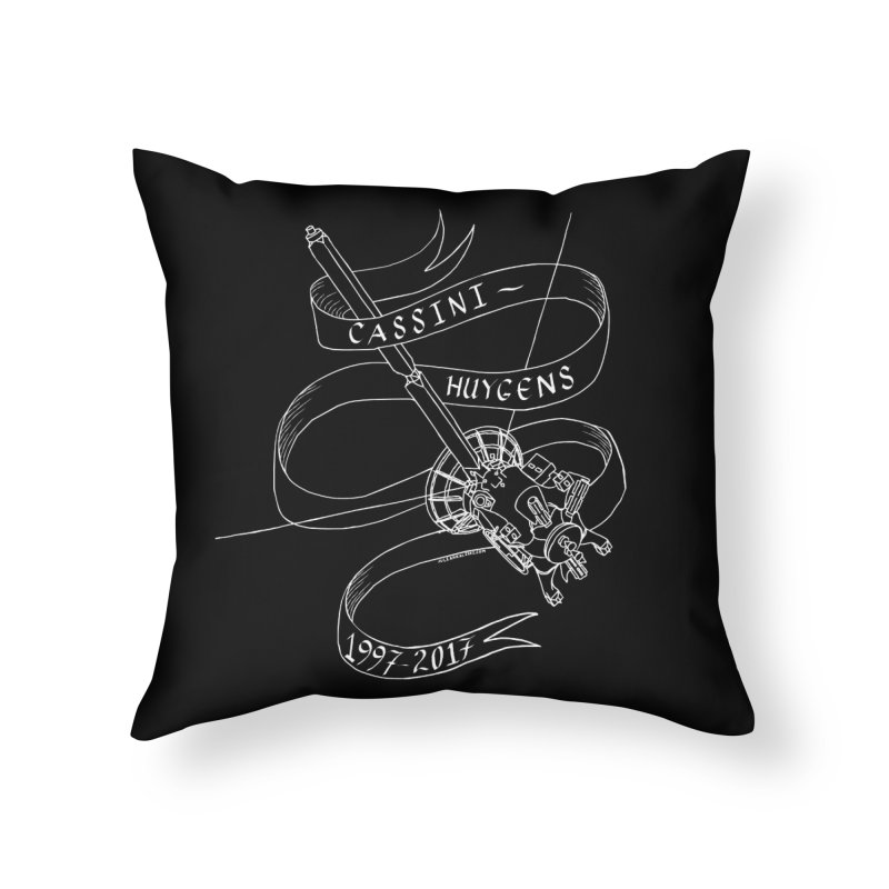 Cassini-Huygens Home Throw Pillow by Juleah Kaliski Designs